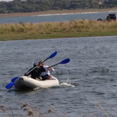 A bit of fun during aquatic vegetation sampling