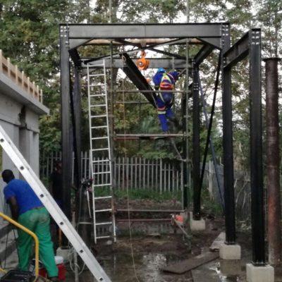 Construction of gantry