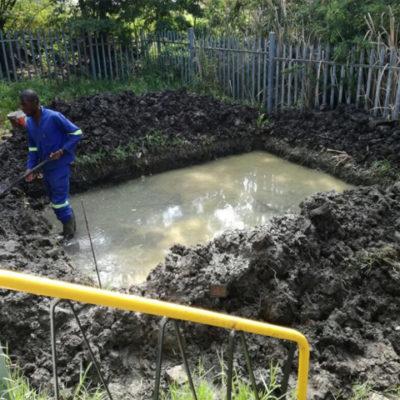 Preparation of foundation for gantry