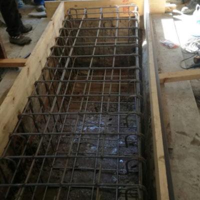 Reinforcement of plinth structure