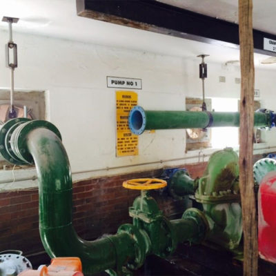 Upgrading of pipes at pump station